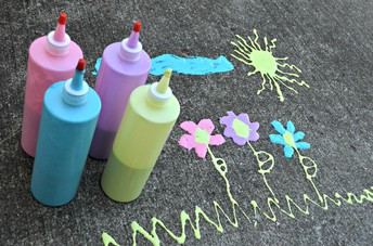 3 Ingredient DIY Puffy Sidewalk Paint