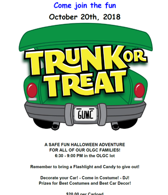 Trunk or Treat sponsored by P.I.E.