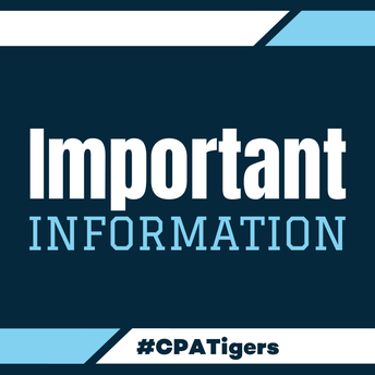 Important Information. #CPATigers