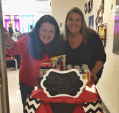 OUR PTO LEADERS AND THE WOOT WOOT CART!
