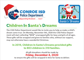 Children In Santa's Dreams Gift Drive