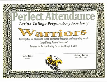 Breaking the Virtual Attendance Barrier with 100% Perfect Attendance for Grading Period 2 Congratulations Eagle Warriors!