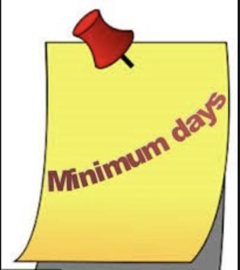 Minimum Day Schedules