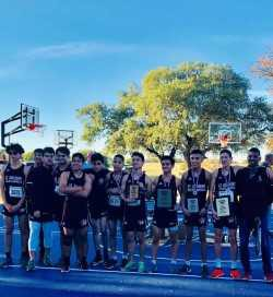 Boys Cross Country Team after winning State