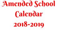 Amended School Calendar