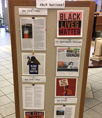 Image of #BLM National News/Support Display