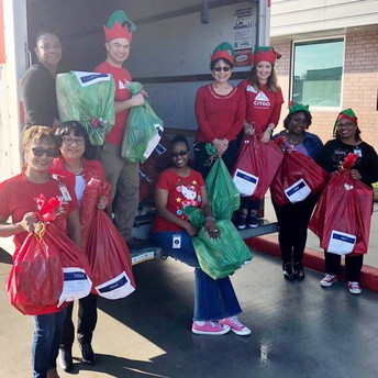 Alief ISD business partner donated more than 400 gifts.