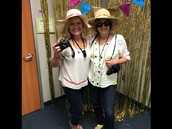 Mrs. Stegent and Mrs. Hussey are ready to travel!
