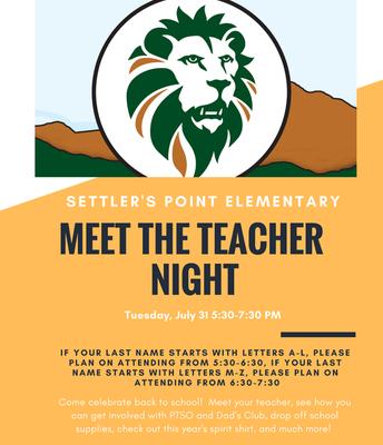 Meet the Teacher....