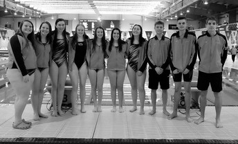 Swim Team - Senior Night [photo credit:  G-TV]