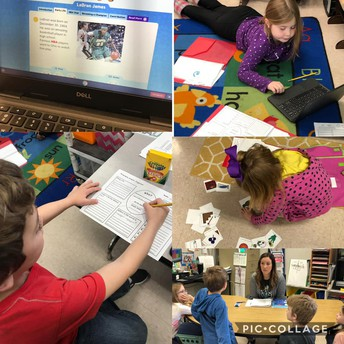 1st graders are researching during Literacy!