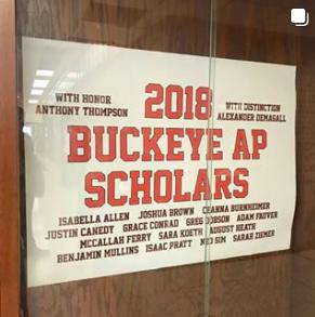"2018 AP Scholars! (""3"" or Above on Three AP Exam)"