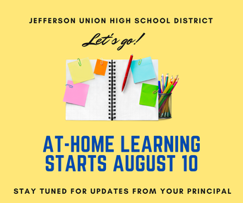 School Starts August 10 in At-Home Learning