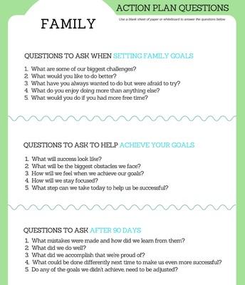 Family Goals Questions
