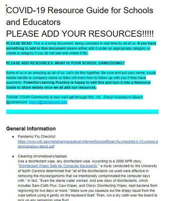 Resource Guide for Schools & Educators