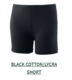 Black Cotton Short- Optional
