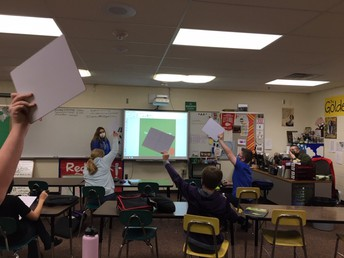 Mr. Runer's students demonstrate their knowledge