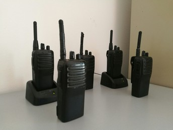 A picture of two-way radios