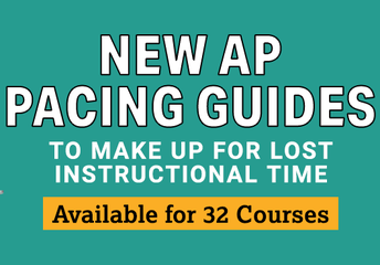 New AP Pacing Guides from the College Board