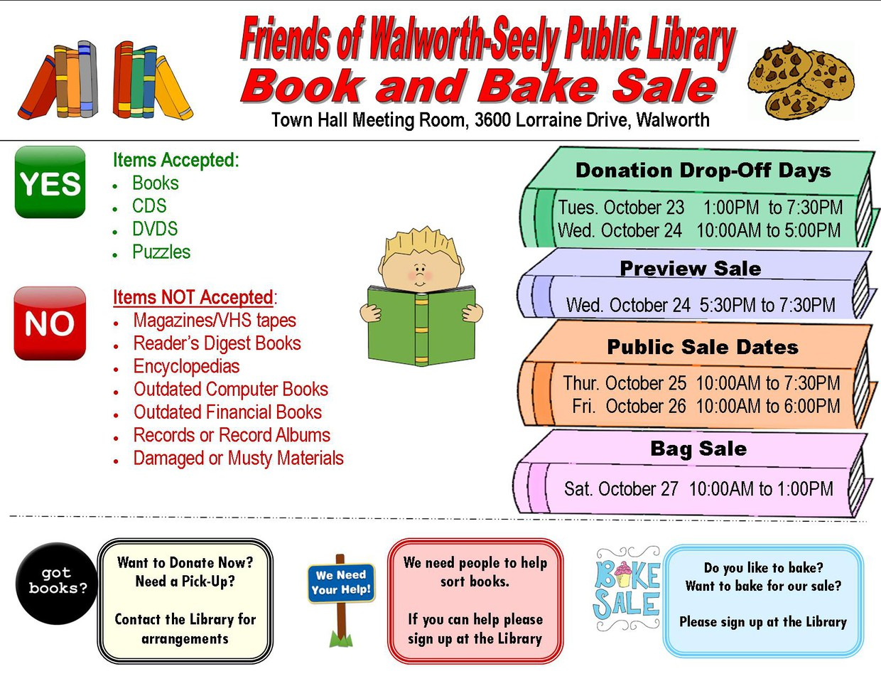 Walworth Library Book and Bake Sale