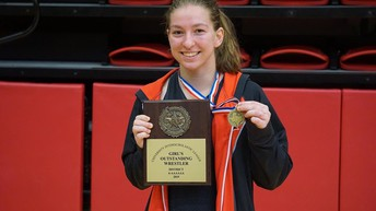 Brooke Massaviol wins at District Wrestling