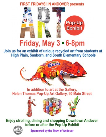 First Fridays Features Recycled Art from High Plain, Sanborn and South Elementary Students!