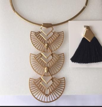 Aida Tassel Pendant Necklace