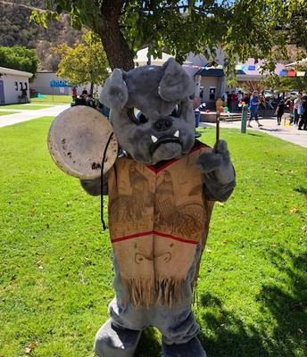 Our mascot, The Bowman Bulldog, joined the fun!