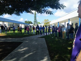 All Staff Circle at Dale Cassens Education Complex