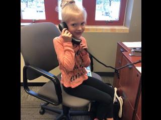 Hi Mom!  I'm in the Principal's office!