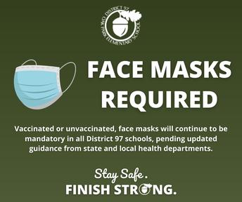 Face Masks Still Mandatory In All D97 Schools