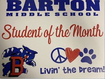 Student of the Month Yard Sign Reminder