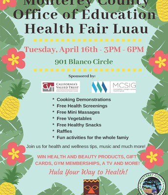 MCOE's Health Fair Luau