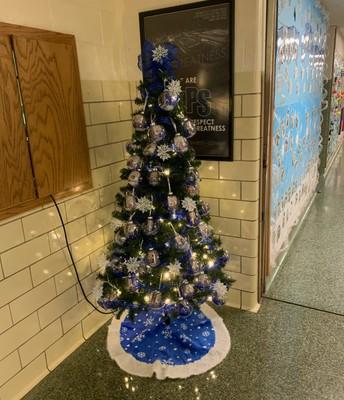 Tree Decorated by Bullpup Preschoolers