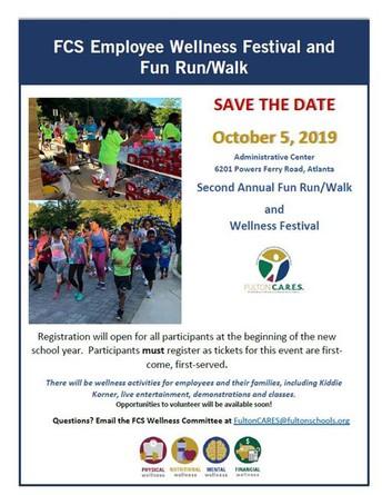 Register for the FCS Employee Wellness Fun Run/Walk - 10/5