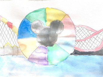 Mickey mouse ears color wheel