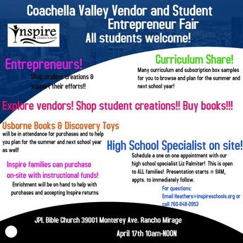 Coachella Valley Vendor and Student Entrepreneur Fair!