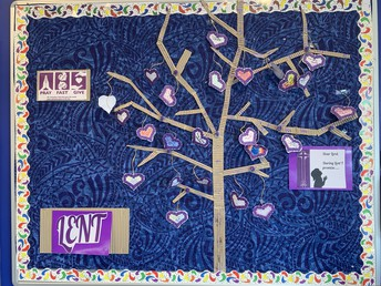 Lent Display in our Foyer - completed by our Emmaus Team