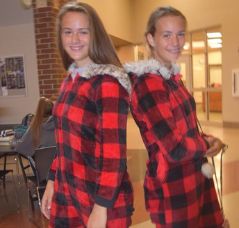 Seeing Double on Pajama Day