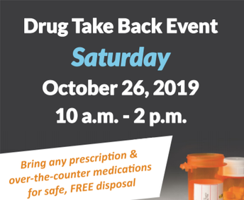 Drug Take Back October 26 from 10-2pm