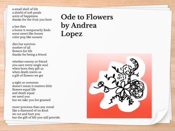 Ode to Flowers by Andrea L.