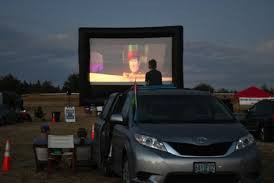 photo of movie drive-in