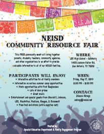 NEISD Community Resource Fair
