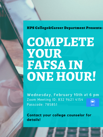 Complete your FAFSA in one hour