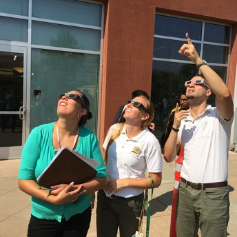 Mr. Najlis pointing out the Eclipse
