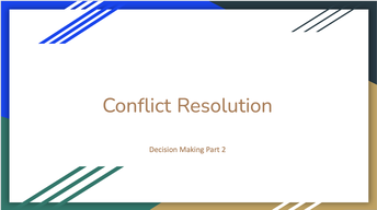 Lesson: Conflict Resolution