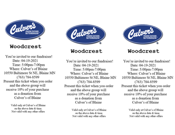 Dine-to-Donate night at Culvers