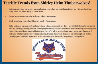 Shirley Heim Middle School - CLICK ON SLIDE