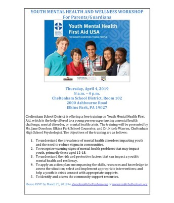 Youth Mental Health and Wellness Workshop