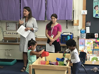 Ms. Carrie & Ms. Jessica presenting at Open House.